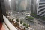 View from our room on the 8th floor… the Renaissance is located in the center of the Gangnam business district ofSeoul