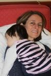 Asleep on Mommy'sshoulder…