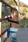 Lovey played on this gate for 20 minutes… who needs toys on afarm?