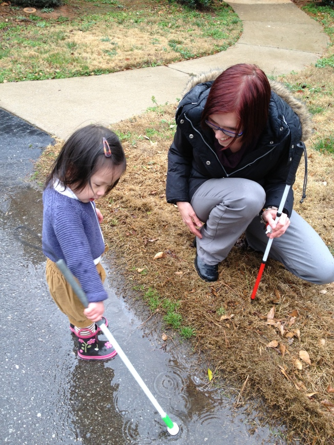 Exploring a Puddle with Laura...