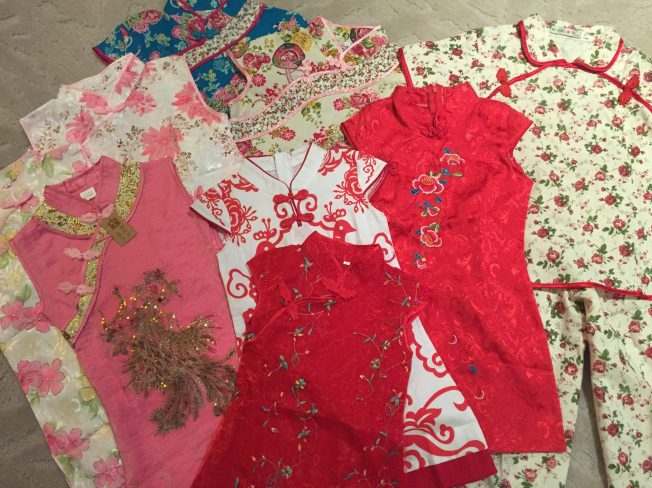 I may or may not have gone overboard buying traditional cheongsam dresses for our Chinese princess... I think not.